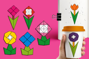 Flowers Origami Graphic By Revidevi