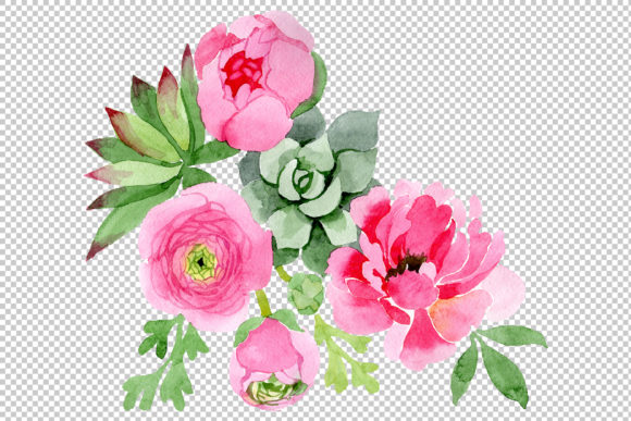Print on Demand: Flowers Ranunculus Watercolor Graphic Illustrations By MyStocks - Image 2