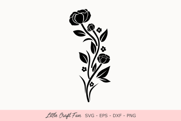 Download Free Octopus With Flowers Silhouette Svg Graphic By Little Craft Fun Creative Fabrica for Cricut Explore, Silhouette and other cutting machines.