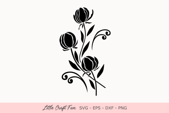 Print on Demand: Flowers Silhouette  Graphic Crafts By Little Craft Fun