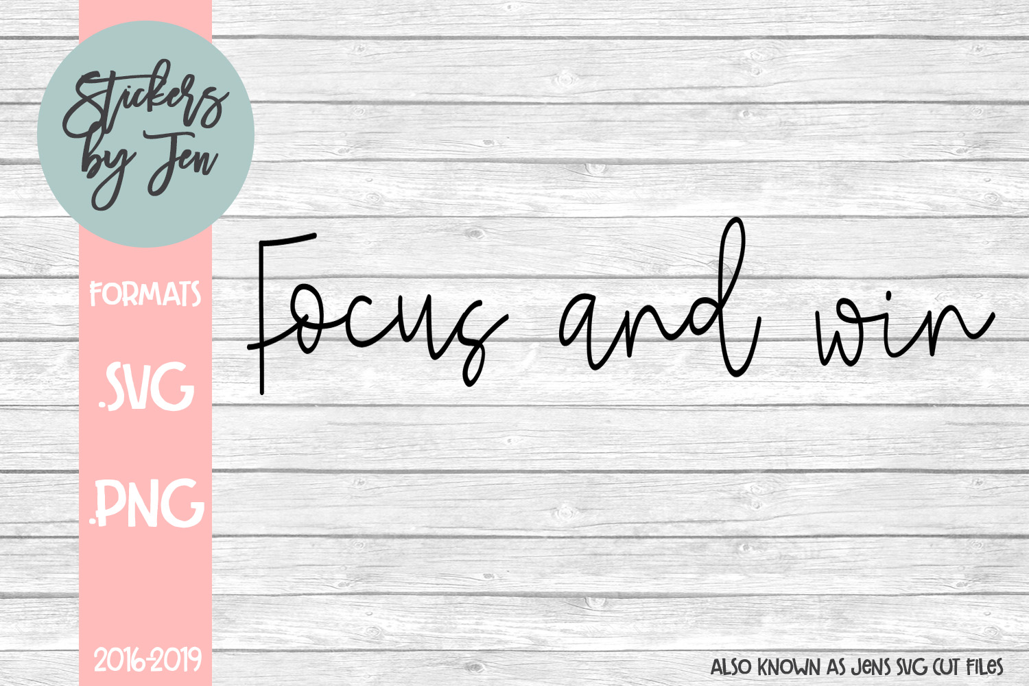 Download Free Focus And Win Svg Graphic By Stickers By Jennifer Creative Fabrica for Cricut Explore, Silhouette and other cutting machines.