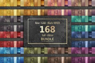 Foil and Glitter Bundle 168 Textures, Graphic By artisssticcc