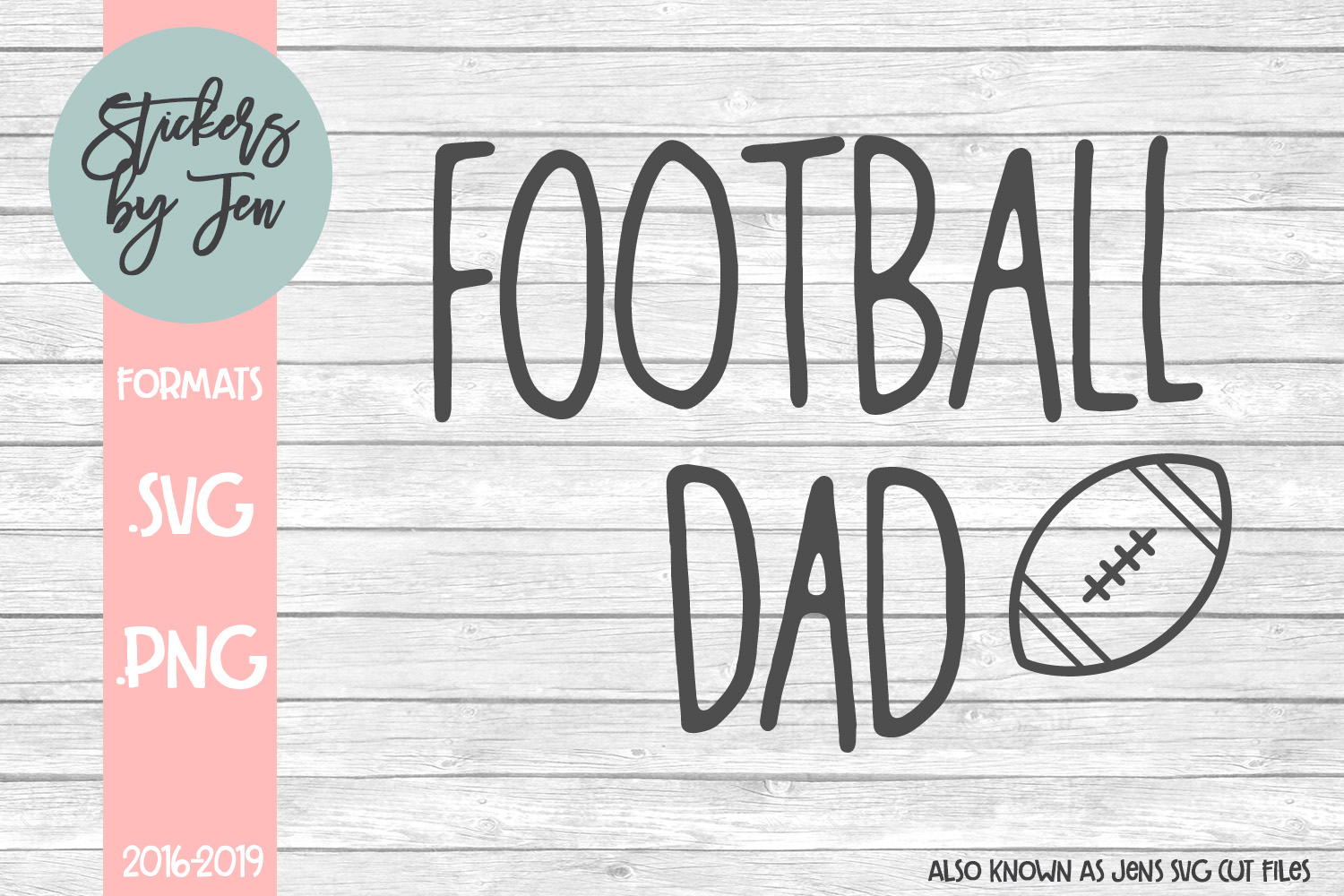 Download Free Football Dad Graphic By Stickers By Jennifer Creative Fabrica for Cricut Explore, Silhouette and other cutting machines.