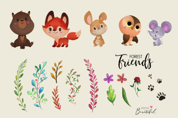 Forest Friends Clipart Collection 01