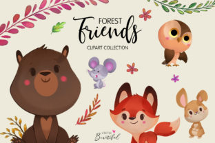 Forest Friends Clipart Collection 01 Graphic By usefulbeautiful