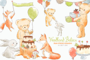 Forest Woodland Animals Clipart Graphic Illustrations By kabankova
