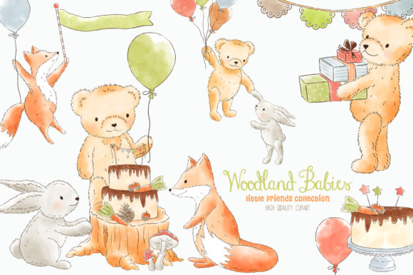 Forest Woodland Animals Clipart Graphic Add-ons By kabankova