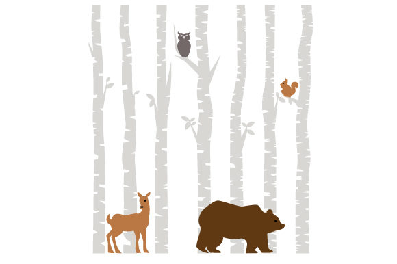 Forest Theme Designs & Drawings Craft Cut File By Creative Fabrica Crafts - Image 1