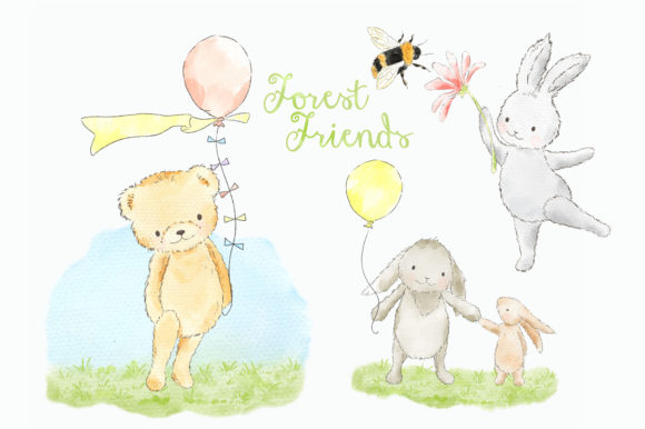 Forest Woodland Animals Clipart Graphic Graphic Add-ons By kabankova