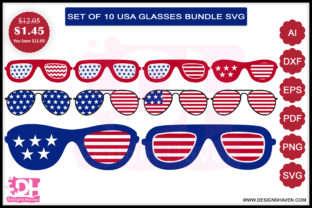 Fourth of July Glasses Svg, Eps, Png Graphic By DesignsHavenLLC