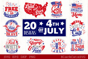 Print on Demand: Fourth of July Bundle 20 Designs Graphic Crafts By BlackCatsMedia