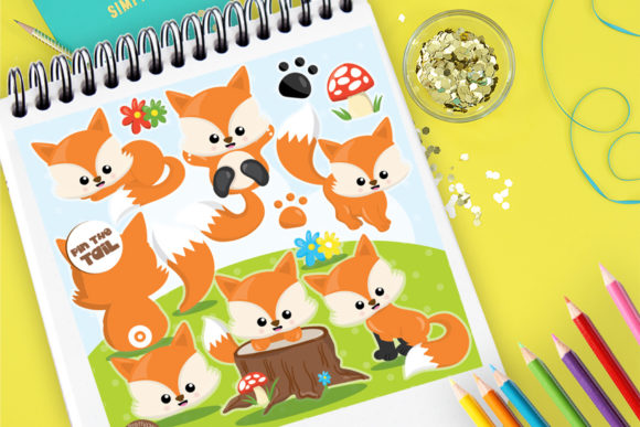 Print on Demand: Fox Family Graphic Illustrations By Prettygrafik