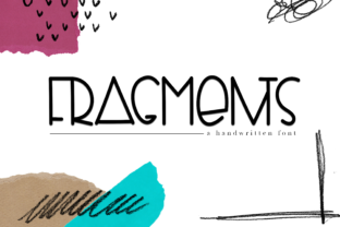 Fragments Font By KA Designs