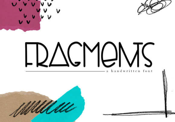 Print on Demand: Fragments Display Font By KA Designs