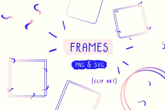 Download Free Frame Clipart Photo Holographic Graphic By Inkclouddesign for Cricut Explore, Silhouette and other cutting machines.