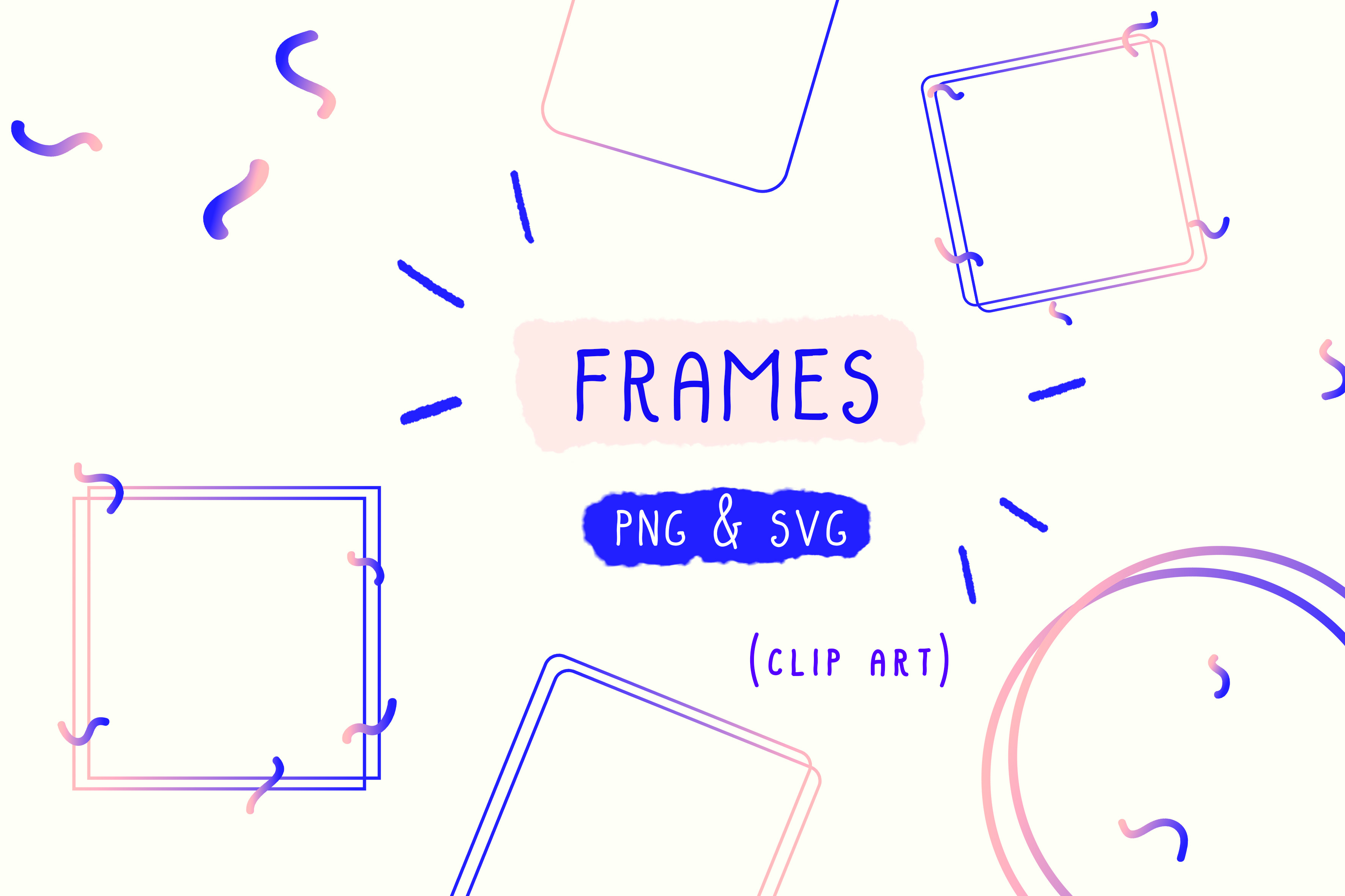 Download Free Frame Clipart Photo Holographic Graphic By Inkclouddesign Creative Fabrica SVG Cut Files