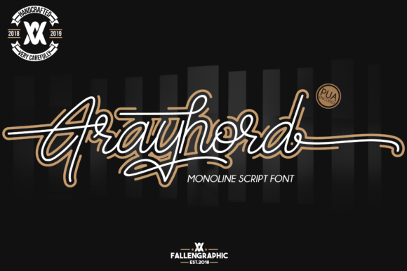 Print on Demand: Frayhord Script & Handwritten Font By Fallengraphic