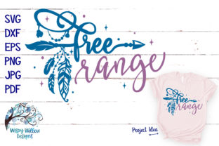 Free Range SVG Boho Feather Arrow Graphic By WispyWillowDesigns
