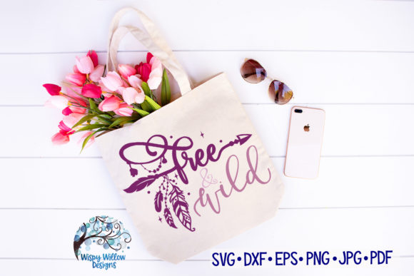 Download Free Free And Wild Boho Feather Svg Cut File Graphic By for Cricut Explore, Silhouette and other cutting machines.