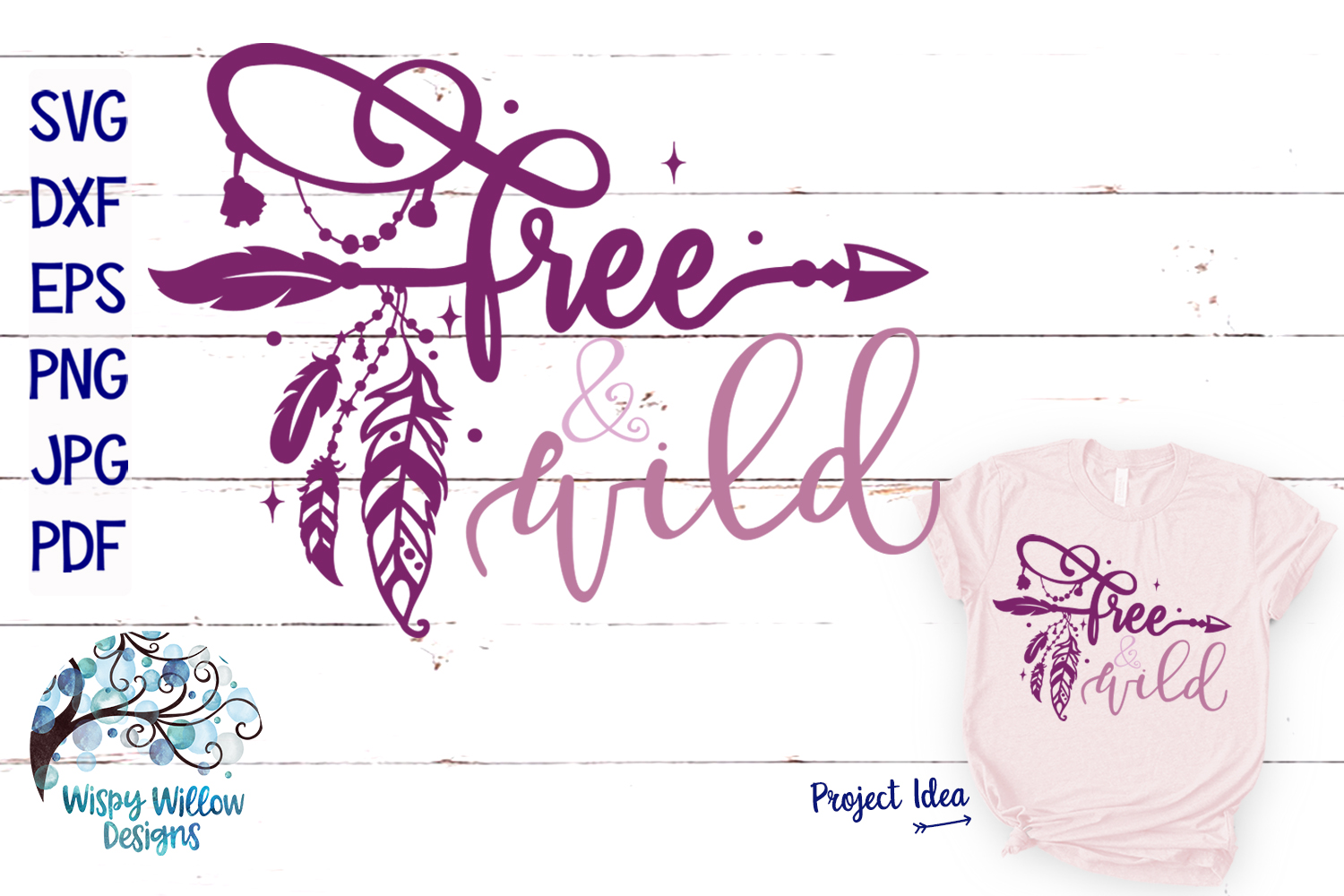 Download Free Free And Wild Boho Feather Svg Cut File Graphic By SVG Cut Files