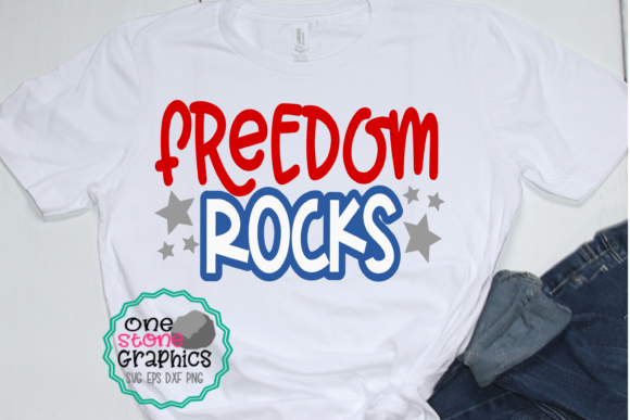 Download Free Freedom Rocks Svg Fourth Of July Svg Graphic By Onestonegraphics for Cricut Explore, Silhouette and other cutting machines.