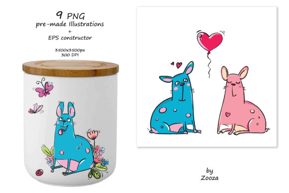 Print on Demand: French Bulldogs - Sticker Pack Graphic Objects By Zooza Art - Image 4