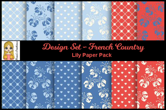French Country - Lily Paper Pack Graphic By Aisne
