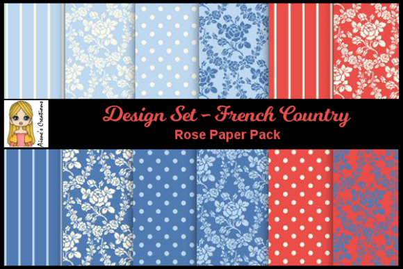 French Country - Rose Paper Pack Graphic By Aisne