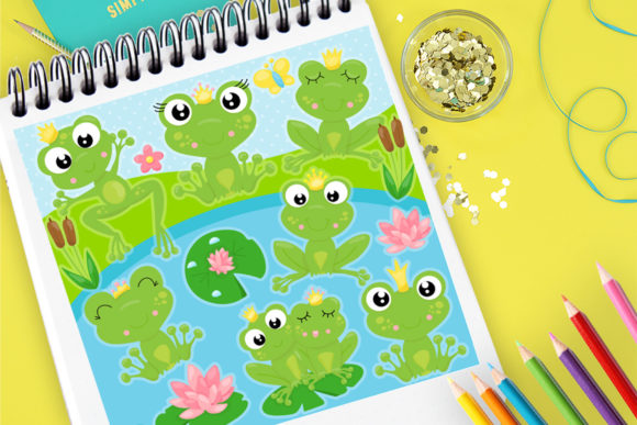 Print on Demand: Frog Party Graphic Illustrations By Prettygrafik