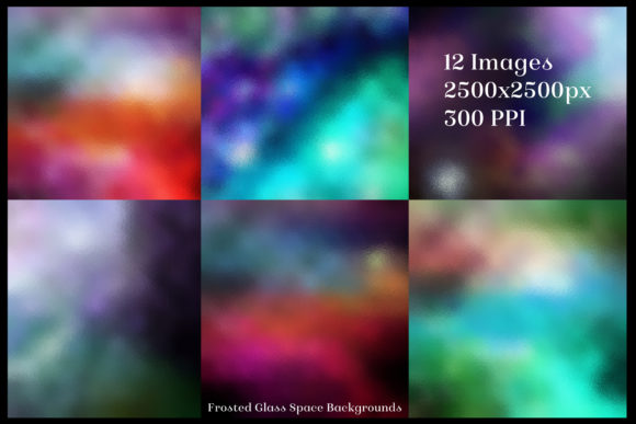 Print on Demand: Frosted Glass Space Backgrounds Graphic Backgrounds By SapphireXDesigns - Image 2