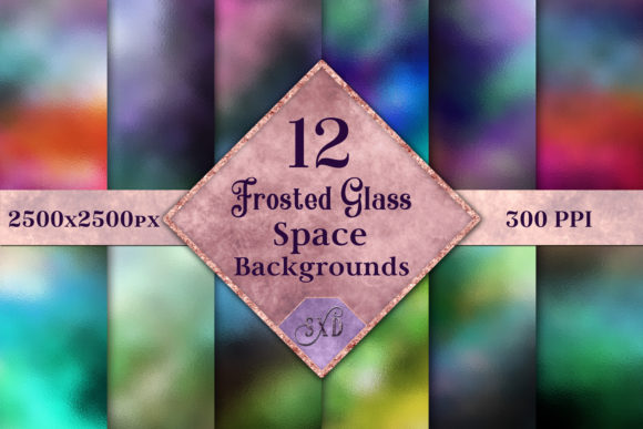 Print on Demand: Frosted Glass Space Backgrounds Graphic Backgrounds By SapphireXDesigns - Image 1
