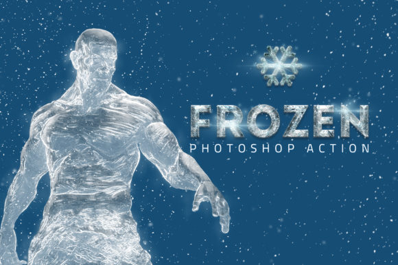 Download Free Frozen Ice Photo Effect Graphic By Yantodesign Creative Fabrica for Cricut Explore, Silhouette and other cutting machines.