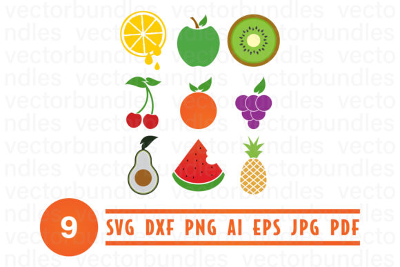 Download Free Fruit Clip Art Svg Graphic By Vectorbundles Creative Fabrica for Cricut Explore, Silhouette and other cutting machines.