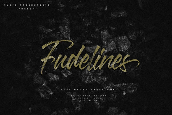 Print on Demand: Fudeline Script & Handwritten Font By Andrie Nugrie