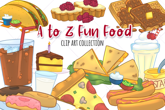 Print on Demand: Fun Foods a to Z Graphic Illustrations By Keepinitkawaiidesign