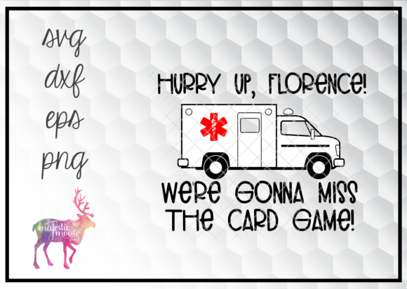 Print on Demand: Funny Nurse Playing Cards Ambulance Graphic Illustrations By majesticmooseprints