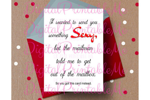 Funny Valentine's Day Card, Naughty Sexy Graphic By DigitalPrintableMe