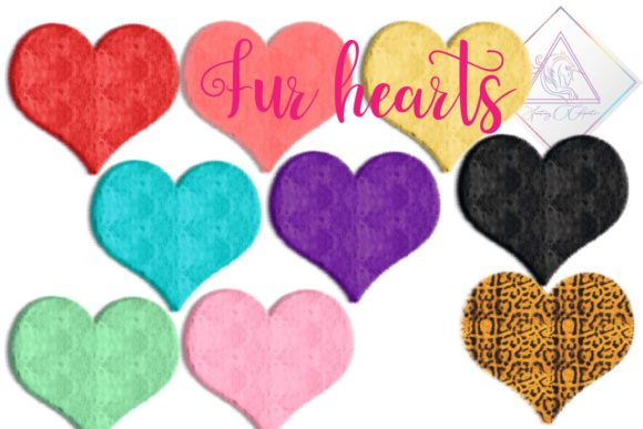 Print on Demand: Furry Hearts Clipart Graphic Illustrations By fantasycliparts - Image 3