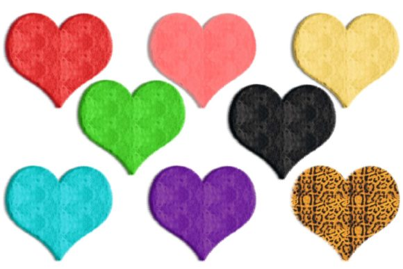 Print on Demand: Furry Hearts Clipart Graphic Illustrations By fantasycliparts - Image 1