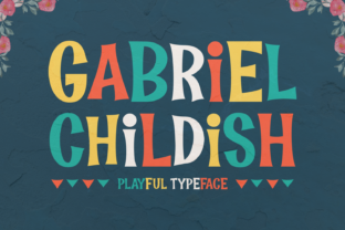 Gabriel Childish Font By Keithzo (7NTypes)