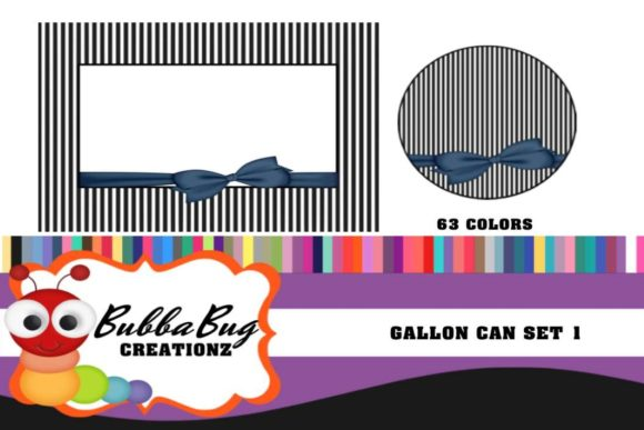 Gallon Can Set 1 Graphic Crafts By BUBBABUG
