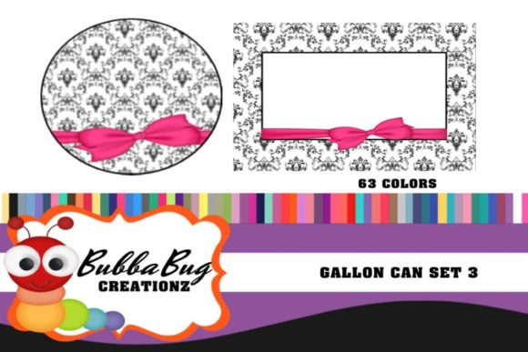 Gallon Can Set 3 Graphic Crafts By BUBBABUG