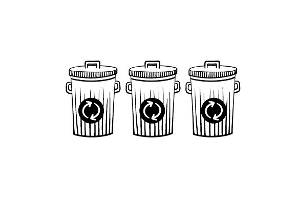 Download Free Garbage Bins With Recycling Logo Svg Cut File By Creative Fabrica Crafts Creative Fabrica for Cricut Explore, Silhouette and other cutting machines.