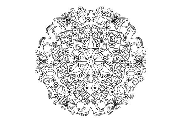 Download Free Garden Mandala Design Svg Graphic By Graphicsfarm Creative Fabrica for Cricut Explore, Silhouette and other cutting machines.