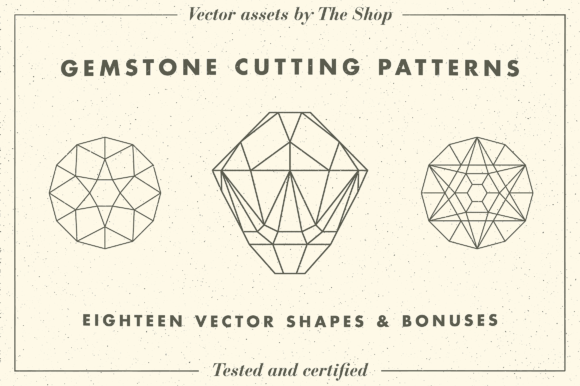 Gemstone Cutting Pattern Volume 01 Graphic Objects By theshopdesignstudio
