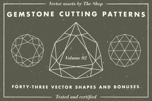 Gemstone Cutting Pattern Volume 02 Graphic Objects By theshopdesignstudio