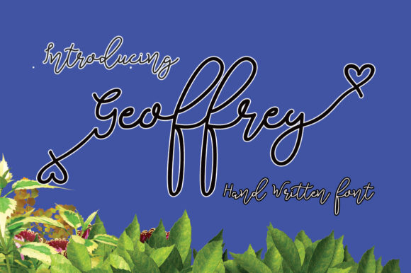 Print on Demand: Geoffrey Script & Handwritten Font By Microcreative