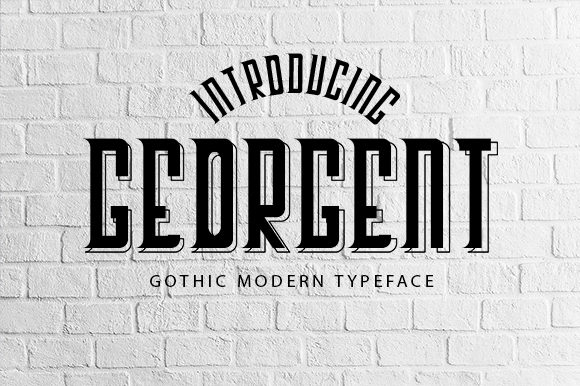 Print on Demand: Georgent Display Font By All About Design