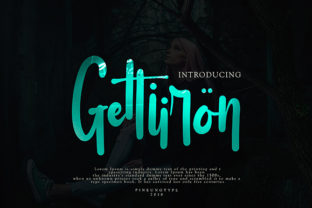 Gettiiron Font By missinklab