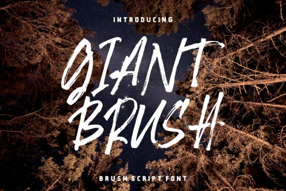 Print on Demand: Giant Brush Manuscrita Fuente Por Home Sweet